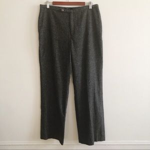 ZARA Gray Wool Blend Trouser Pants sz 12